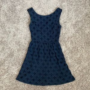 Blue lace Size 1 mini dress